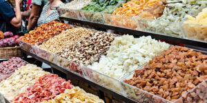 Mercato frutta secca esotica
