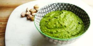 Pesto di Pistacchio o crema di pistacchio salata